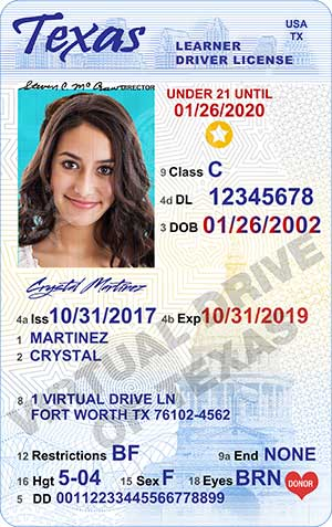 what do you need to get your drivers license in the state of texas